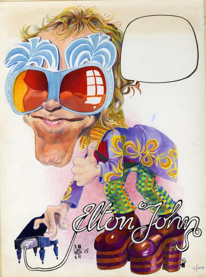 ELTON JOHN par Griffo