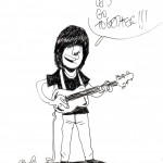 GUITARISTE EN PIED par Bouzard