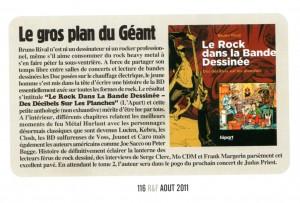 Extrait Rock & Folk août 2011